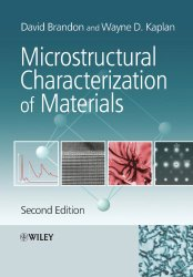 Book Cover: Microstructural Characterization of Materials